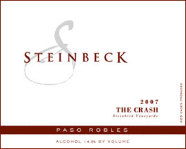 The Crash blend at Steinbek Winery